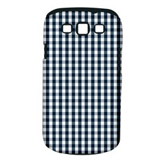 Silent Night Blue Large Gingham Check Samsung Galaxy S III Classic Hardshell Case (PC+Silicone)