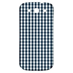 Silent Night Blue Large Gingham Check Samsung Galaxy S3 S III Classic Hardshell Back Case