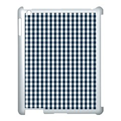 Silent Night Blue Large Gingham Check Apple iPad 3/4 Case (White)