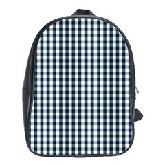 Silent Night Blue Large Gingham Check School Bags (XL)
