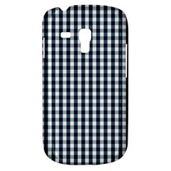Silent Night Blue Large Gingham Check Galaxy S3 Mini