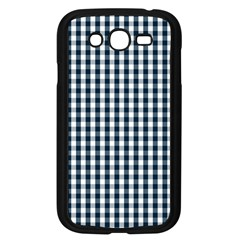 Silent Night Blue Large Gingham Check Samsung Galaxy Grand DUOS I9082 Case (Black)
