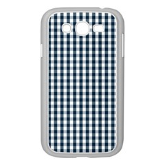Silent Night Blue Large Gingham Check Samsung Galaxy Grand DUOS I9082 Case (White)