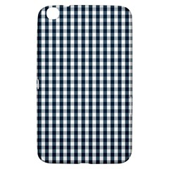Silent Night Blue Large Gingham Check Samsung Galaxy Tab 3 (8 ) T3100 Hardshell Case