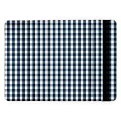 Silent Night Blue Large Gingham Check Samsung Galaxy Tab Pro 12.2  Flip Case