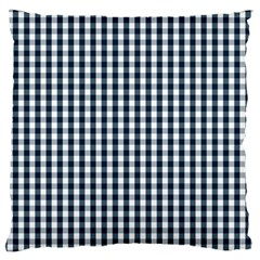 Silent Night Blue Large Gingham Check Large Flano Cushion Case (Two Sides)
