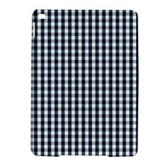 Silent Night Blue Large Gingham Check iPad Air 2 Hardshell Cases