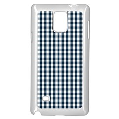 Silent Night Blue Large Gingham Check Samsung Galaxy Note 4 Case (White)