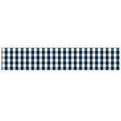 Silent Night Blue Large Gingham Check Flano Scarf (Large)