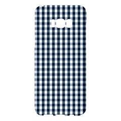 Silent Night Blue Large Gingham Check Samsung Galaxy S8 Plus Hardshell Case