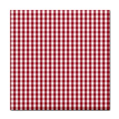 Usa Flag Red Blood Large Gingham Check Tile Coasters