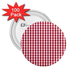Usa Flag Red Blood Large Gingham Check 2.25  Buttons (100 pack)