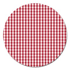 Usa Flag Red Blood Large Gingham Check Magnet 5  (Round)