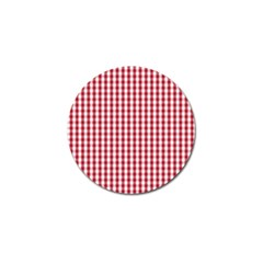Usa Flag Red Blood Large Gingham Check Golf Ball Marker