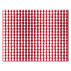 Usa Flag Red Blood Large Gingham Check Rectangular Jigsaw Puzzl