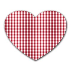Usa Flag Red Blood Large Gingham Check Heart Mousepads