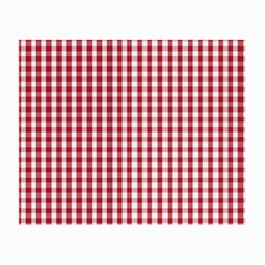 Usa Flag Red Blood Large Gingham Check Small Glasses Cloth (2-Side)