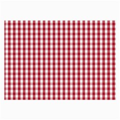 Usa Flag Red Blood Large Gingham Check Large Glasses Cloth