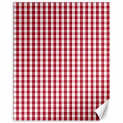 Usa Flag Red Blood Large Gingham Check Canvas 11  x 14