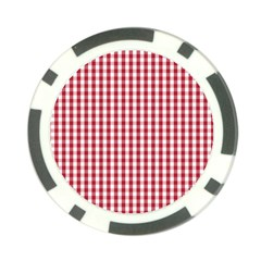 Usa Flag Red Blood Large Gingham Check Poker Chip Card Guard
