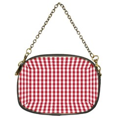 Usa Flag Red Blood Large Gingham Check Chain Purses (Two Sides)