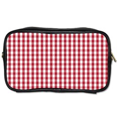 Usa Flag Red Blood Large Gingham Check Toiletries Bags