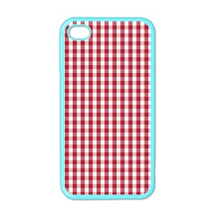 Usa Flag Red Blood Large Gingham Check Apple Iphone 4 Case (color)