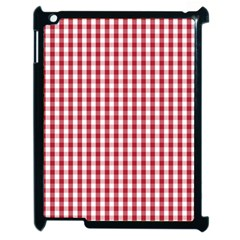 Usa Flag Red Blood Large Gingham Check Apple iPad 2 Case (Black)