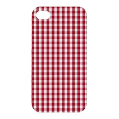 Usa Flag Red Blood Large Gingham Check Apple iPhone 4/4S Hardshell Case