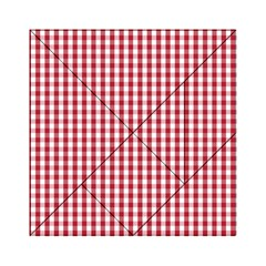 Usa Flag Red Blood Large Gingham Check Acrylic Tangram Puzzle (6  x 6 )