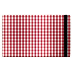 Usa Flag Red Blood Large Gingham Check Apple iPad 3/4 Flip Case
