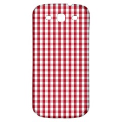 Usa Flag Red Blood Large Gingham Check Samsung Galaxy S3 S III Classic Hardshell Back Case