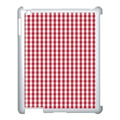 Usa Flag Red Blood Large Gingham Check Apple iPad 3/4 Case (White)