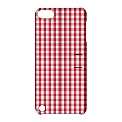 Usa Flag Red Blood Large Gingham Check Apple Ipod Touch 5 Hardshell Case With Stand