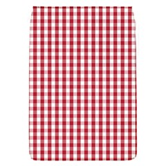 Usa Flag Red Blood Large Gingham Check Flap Covers (S)