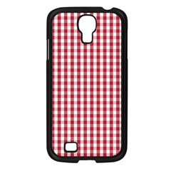Usa Flag Red Blood Large Gingham Check Samsung Galaxy S4 I9500/ I9505 Case (Black)