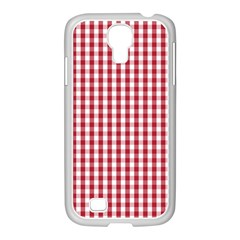 Usa Flag Red Blood Large Gingham Check Samsung GALAXY S4 I9500/ I9505 Case (White)