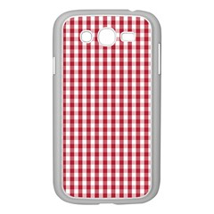 Usa Flag Red Blood Large Gingham Check Samsung Galaxy Grand DUOS I9082 Case (White)