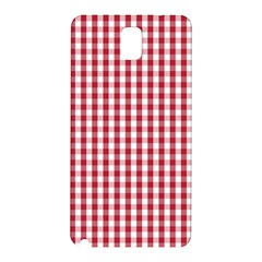 Usa Flag Red Blood Large Gingham Check Samsung Galaxy Note 3 N9005 Hardshell Back Case