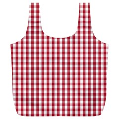 Usa Flag Red Blood Large Gingham Check Full Print Recycle Bags (L)