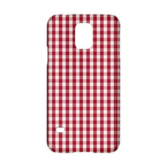 Usa Flag Red Blood Large Gingham Check Samsung Galaxy S5 Hardshell Case