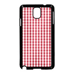 Usa Flag Red Blood Large Gingham Check Samsung Galaxy Note 3 Neo Hardshell Case (Black)