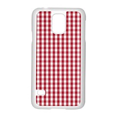Usa Flag Red Blood Large Gingham Check Samsung Galaxy S5 Case (White)