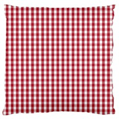 Usa Flag Red Blood Large Gingham Check Standard Flano Cushion Case (Two Sides)