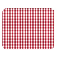 Usa Flag Red Blood Large Gingham Check Double Sided Flano Blanket (Large)