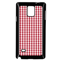 Usa Flag Red Blood Large Gingham Check Samsung Galaxy Note 4 Case (Black)