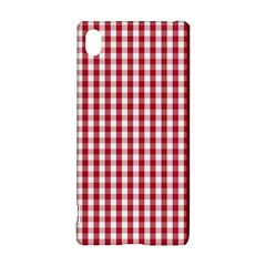 Usa Flag Red Blood Large Gingham Check Sony Xperia Z3+