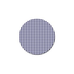USA Flag Blue Large Gingham Check Plaid  Golf Ball Marker (10 pack)