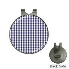 USA Flag Blue Large Gingham Check Plaid  Hat Clips with Golf Markers