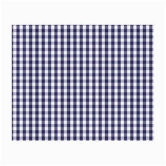 USA Flag Blue Large Gingham Check Plaid  Small Glasses Cloth (2-Side)